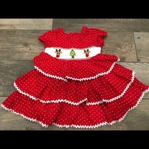 EUC Mud Pie smocked tiered dress Sz 9-12 months